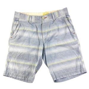 Tommy Bahama Relax Shorts Gray/Yellow Stripe Sz 32